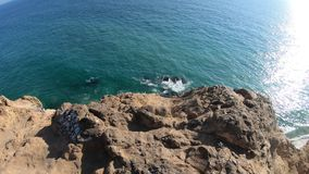 Panorama de Dume del punto de Malibu almacen de video