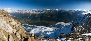 Panorama de Eggishorn Imagens de Stock