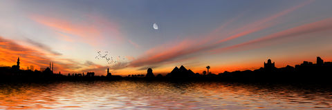 Panorama de Egipto Fotos de archivo