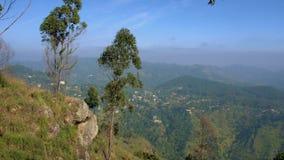 Panorama de Ella Rock en Sri Lanka almacen de metraje de vídeo