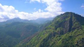 Panorama de Ella Rock en Sri Lanka almacen de video