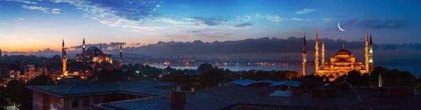Panorama de Estambul fotografía de archivo libre de regalías