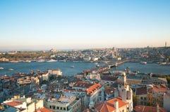 Panorama de Estambul fotografía de archivo