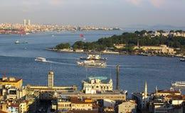 Panorama de Estambul de la torre del galata Fotografía de archivo