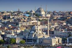Panorama de Estambul de la torre del galata Imagen de archivo