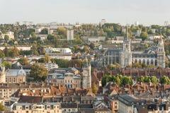 Panorama de Evreux Imagen de archivo