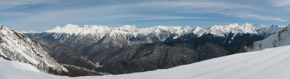 Panorama de Fisht Fotografia de Stock Royalty Free