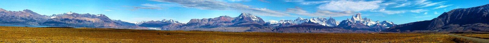 Panorama de Fitz Roy, Patagonia, la Argentina Imágenes de archivo libres de regalías