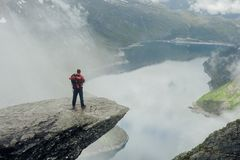 Panorama de fjord de Geiranger beau Norvège de nature, Photog de nature photos stock