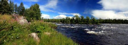 Panorama de fleuve Images libres de droits