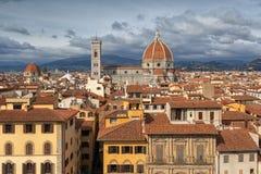 Panorama de Florença e de St Mary da flor em Florença Fotos de Stock