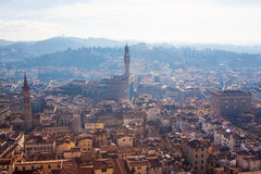 Panorama de Florence du toit Photographie stock