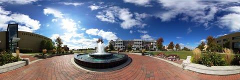 Panorama de fontaine de musée de Kenosha Image stock