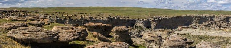 Panorama de formations de ville de roche Images libres de droits