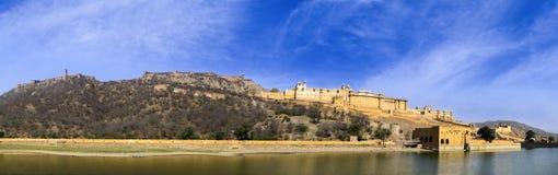 Panorama de fort célèbre d'Amer Amber du Ràjasthàn Image stock