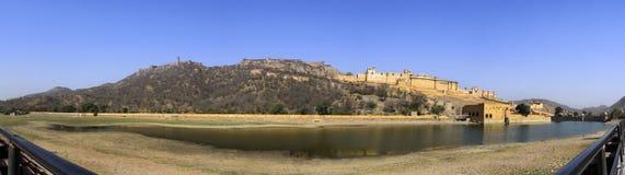 Panorama de fort célèbre d'Amer Amber du Ràjasthàn Photos libres de droits