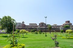 Panorama de fort de Lahore, Lahore, Pendjab, Pakistan Image stock