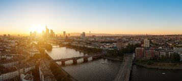 Panorama de Francfort, Allemagne Photo stock