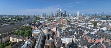 Panorama de Frankfurt-am-Main, Alemania Fotografía de archivo libre de regalías