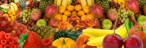 Panorama de fruit Image libre de droits