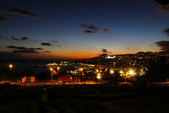 Panorama de Funchal de point de vue Vila Guida Image stock