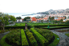 Panorama de Funchal de point de vue Vila Guida Photos stock
