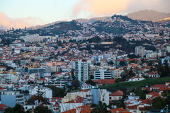 Panorama de Funchal de point de vue Vila Guida Image libre de droits