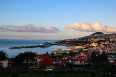 Panorama de Funchal de point de vue Vila Guida Photo libre de droits