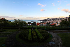 Panorama de Funchal de point de vue Vila Guida Images stock