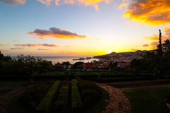 Panorama de Funchal de point de vue Vila Guida Photographie stock libre de droits