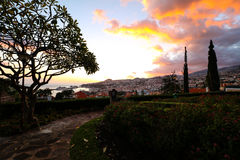 Panorama de Funchal de point de vue Vila Guida Photo stock