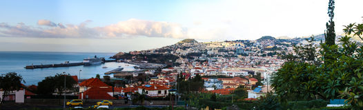 Panorama de Funchal de point de vue Vila Guida Images libres de droits