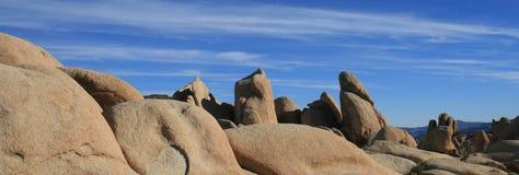 Panorama de géologie de Joshua Tree Photographie stock
