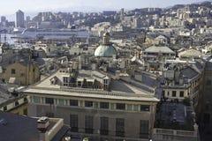 Panorama de Gênes Image stock