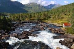 Panorama de Gaularfjell en Noruega Fotografía de archivo
