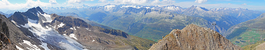 Panorama de Gemsstock arriba Imagen de archivo libre de regalías