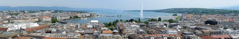 Panorama de Genève Images stock