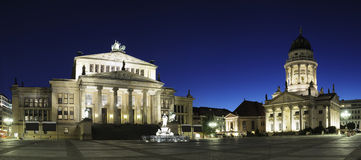 Panorama de Gendarmenmarkt en Berlín Fotos de archivo