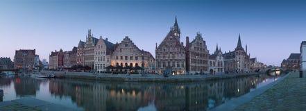 Panorama de Ghent Foto de Stock Royalty Free