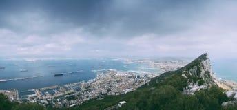 Panorama de Gibraltar Imagem de Stock