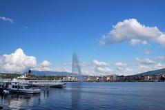 Panorama de Ginebra Fotos de archivo libres de regalías