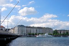 Panorama de Ginebra Imagenes de archivo