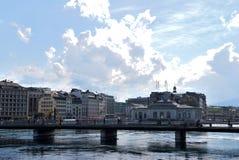 Panorama de Ginebra Imagen de archivo