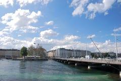 Panorama de Ginebra Fotos de archivo
