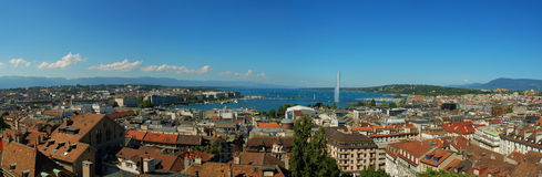 Panorama de Ginebra Imagen de archivo libre de regalías