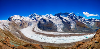 Panorama de glacier Photo libre de droits