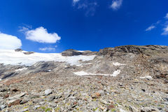 Panorama de glacier avec la montagne Kristallwand, Alpes de Hohe Tauern, Autriche Photo stock