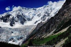 Panorama de glacier de Midui Image libre de droits
