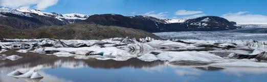 Panorama de glacier, Islande Image stock