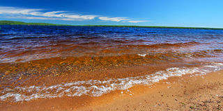 Panorama de Gogebic do lago Fotos de Stock Royalty Free